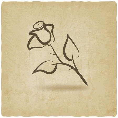 rose flower symbol Vector