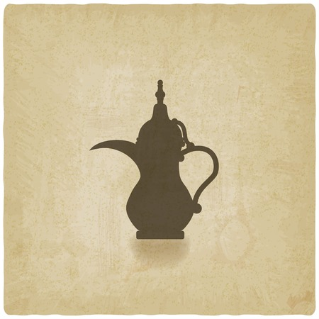old background: Arabic coffee pot old background