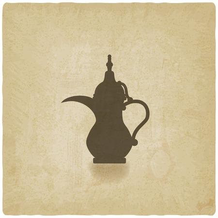 emirates: Arabic coffee pot old background