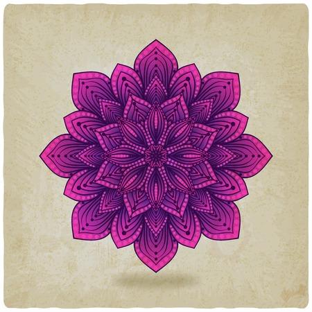 circular pattern mandala old background - vector illustration. eps 10 Vector