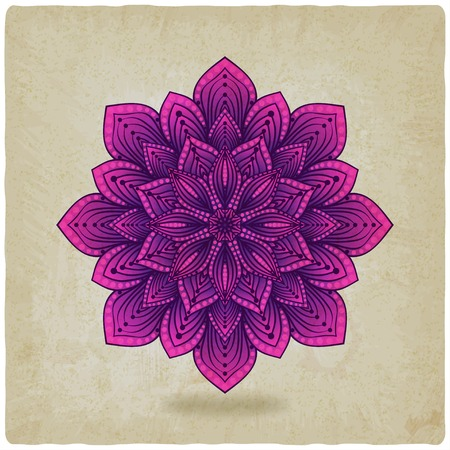 circular pattern mandala old background - vector illustration. eps 10 Stock Illustratie