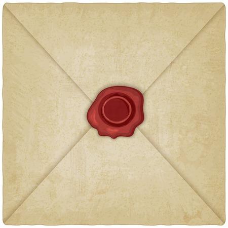 vintage envelope: Sobre de la vendimia con el sello de la cera - ilustraci�n vectorial. eps 10