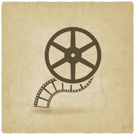 rollo pelicula: rollo de película antigua de fondo - ilustración vectorial. eps 10 Vectores