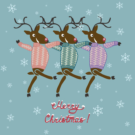 sueter: Venados de Navidad en suéter