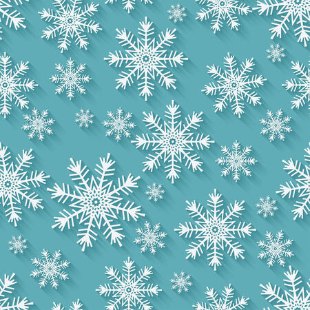 Christmas snowflakes background - vector illustration. eps 10 Vector