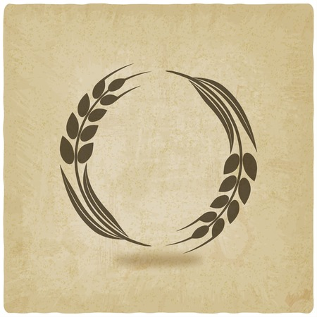 spikes: trigo vieja ilustraci�n vectorial de fondo-. eps 10