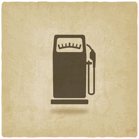 octane: gasoline pump old background - vector illustration. eps 10 Illustration