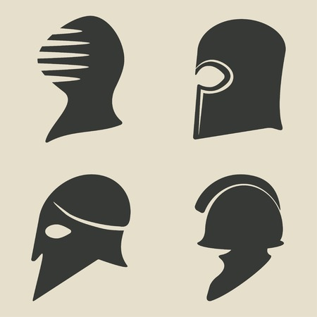 helmet icon set - vector illustration. eps 8 Vector