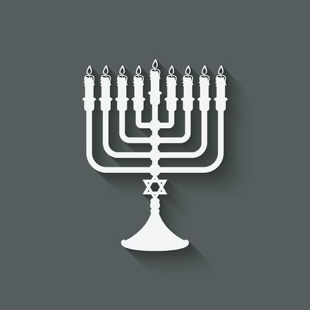 menorah: Hanukkah menorah symbol