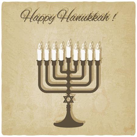 hanukkah: Happy Hanukkah card old background