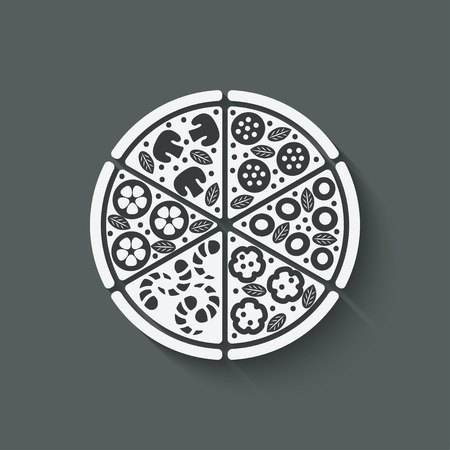 pizzeria label: pizza design element
