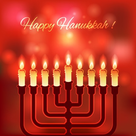 hannukah: Happy Hanukkah blurred background - vector illustration. eps 10