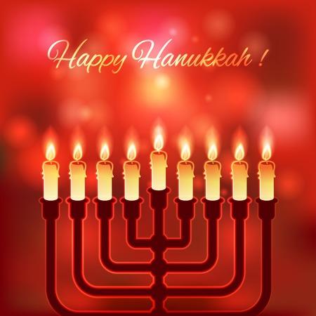 hanukkah: Happy Hanukkah blurred background - vector illustration. eps 10