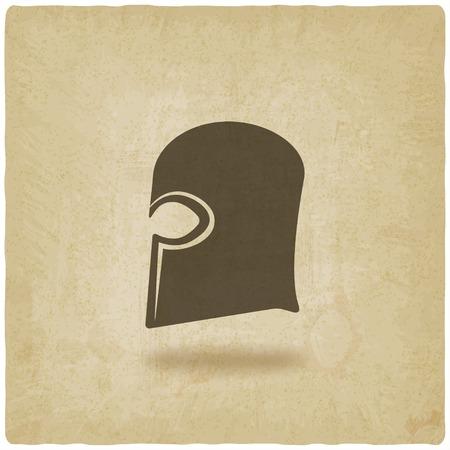 helmet icon old background - vector illustration. eps 10 Vector