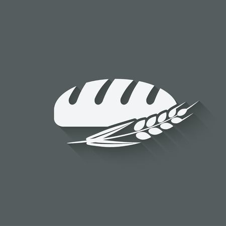 rye bread: bread bakery symbol Illustration