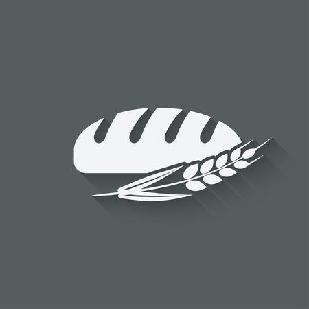 broodbakkerij symbool Stock Illustratie