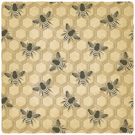 bee honeycomb pattern