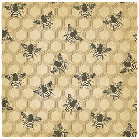 honeycomb: patrón de panal de abeja Vectores
