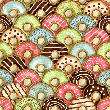 ドーナツのシームレスなパターン