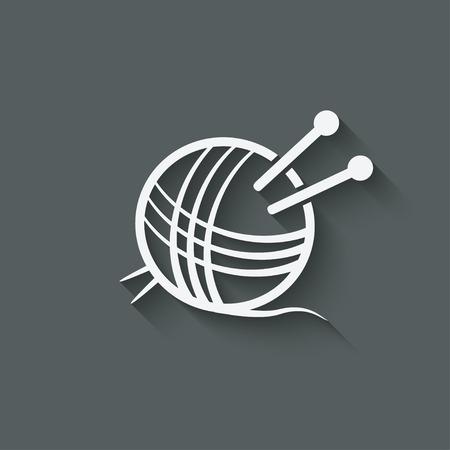 needlework: knitting symbol - vector illustration. eps 10