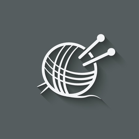 gomitoli di lana: simbolo knitting - illustrazione vettoriale. eps 10 Vettoriali