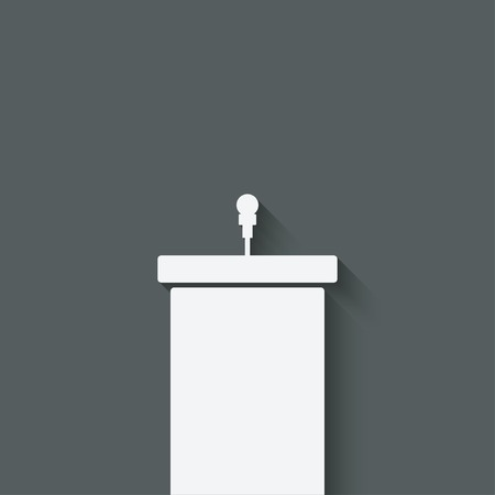 spokesperson: podium with microphone - vector illustration Illustration