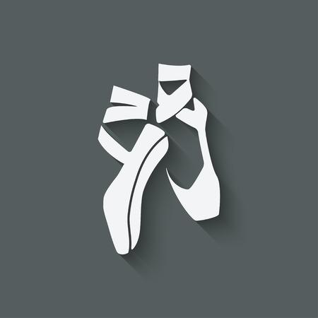 zapatillas ballet: ballet s�mbolo estudio de danza - ilustraci�n vectorial. eps 10 Vectores