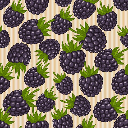 blue berry: berry seamless pattern - vector illustration. eps 8
