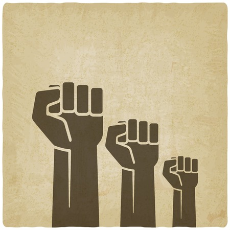 fist: fist independence symbol old background