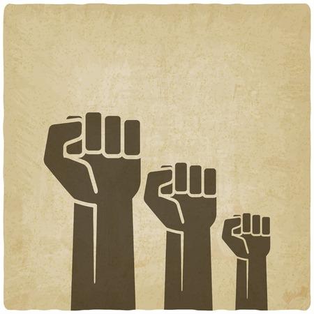 fist independence symbol old background