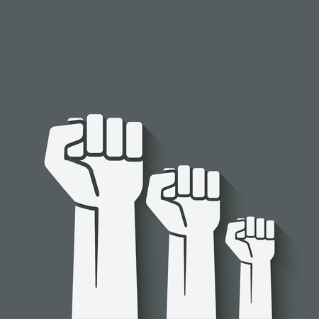 power icons: fist independence symbol Illustration