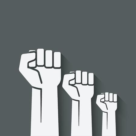 fist independence symbol Illustration