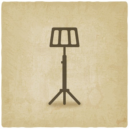 lectern: music stand old background Illustration