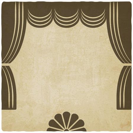 teatro: etapa del teatro con las cortinas de fondo antiguo Vectores