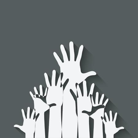 hands up symbol Vector