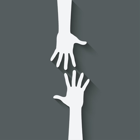 group of hands: helping hand symbol