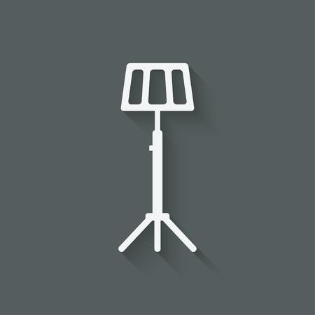 lectern: music stand symbol