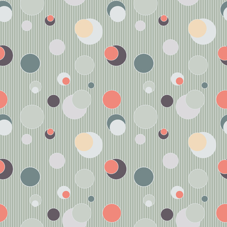 reiteration: Seamless pattern with circles and lines