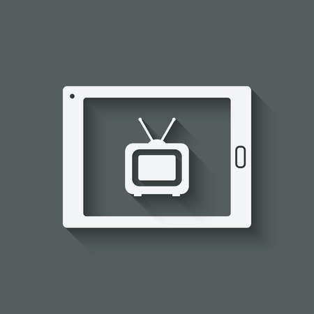 tv network: online tv symbol