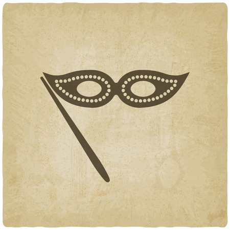 operetta: Masquerade mask symbol old background
