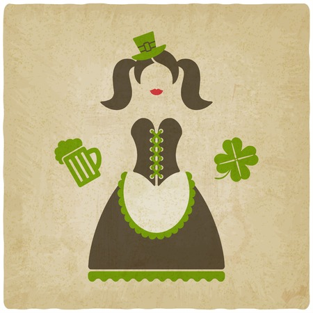 leprechaun girl: St. Patricks Day girl