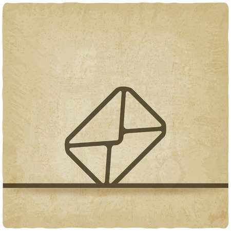 old envelope: Mail envelope symbol old background