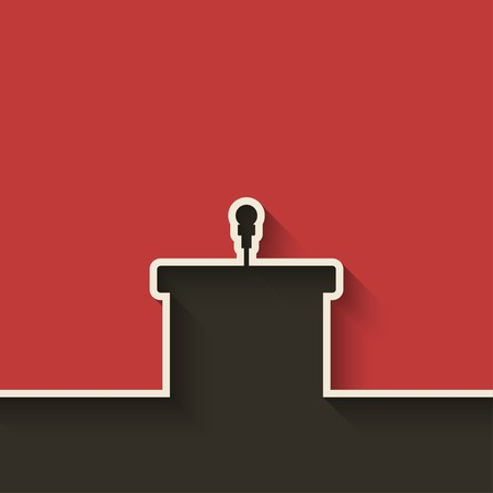 conference speaker: podium with microphone