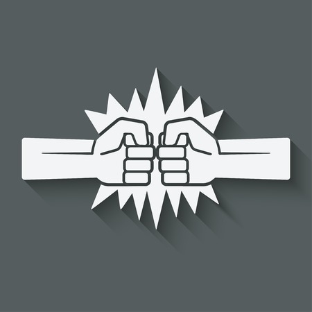 fist fight: punch fists fight symbol Illustration