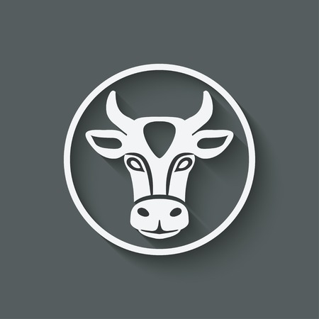 cow head symbol Çizim