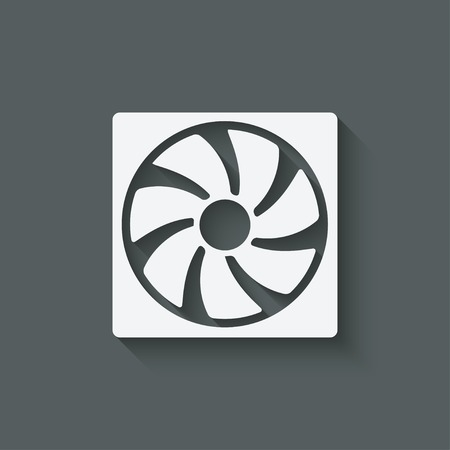 air flow: fan design symbol - vector illustration. eps 10 Illustration