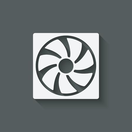 fan design symbol - vector illustration. eps 10 Vectores