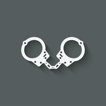 punishment: handcuffs punishment symbol - vector illustration.