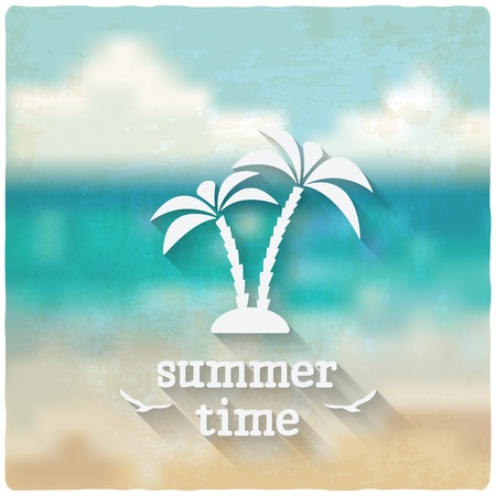 marine background with palms