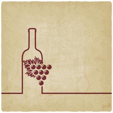 wine menu old background Illustration